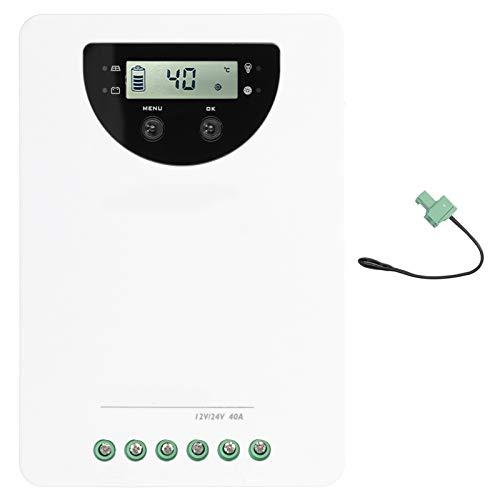 Controlador de carga solar 40A MPPT, regulador de batería, regulador de carga solar, controlador de carga del panel solar, soporte de monitoreo inalámbrico para yate RV