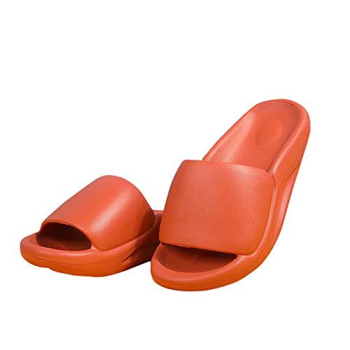 DAIFINEY Damen Badeschuhe Slippers Hausschuhe Unisex Badezimmer Fitnessraum Indoor weiche Sohle rutschfest Schnelltrocknend(3-Orange/Orange,38)