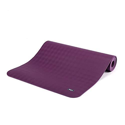 Ultra Grip Kautschuk-Yogamatte ECOPRO DIAMOND, Premium-Matte, extrem rutschfest & extra stark, 100% Naturkautschuk, Ökotex 100, 6mm, auch für Hot Yoga, Gymnastik und Pilates (violett/lila)