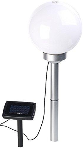 Borne lumineuse sphérique à LED Ø 20 cm avec effet lumineux rotatif & piquet [Lunartec]