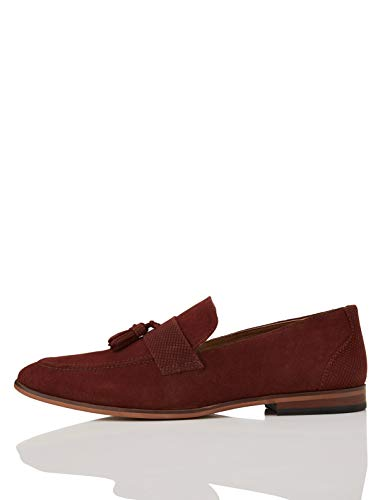 find. Andrews Suede Tassel Loafers, Rot (Burgundy), 43 EU