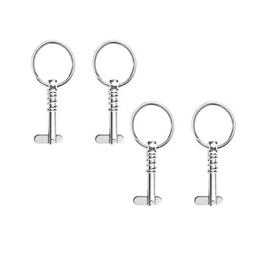 Awpeye 4 Pack Quick Release Bimini Top Pins 1/4' Diameter w/Drop Cam & Spring,...