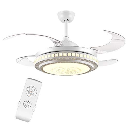 Indoor Mute Plafondventilatorlamp met verlichting LED dimmen Kroonluchter Dimbaar Plafondventilatorlamp voor thuis Huiskamer Eetkamer Slaapkamer,Remote control