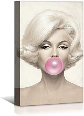 quality assurance Laoife Beauty Portrait Marilyn Monroe Canvas 100% quality warranty Bubble Gum Wall and