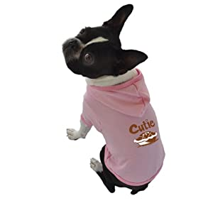 Ruff Ruff and Meow Dog Hoodie, Cutie Pie, Pink, Extra-Small
