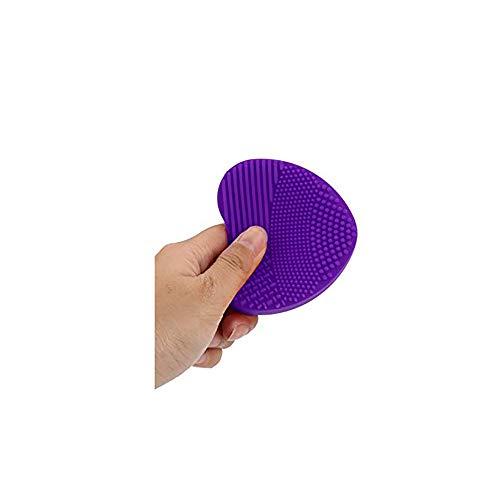 Brosse à oeufs en forme de coeur en silicone Gant de nettoyage Maquillage Pinceau de lavage Nettoyant pour outils de nettoyage Purple