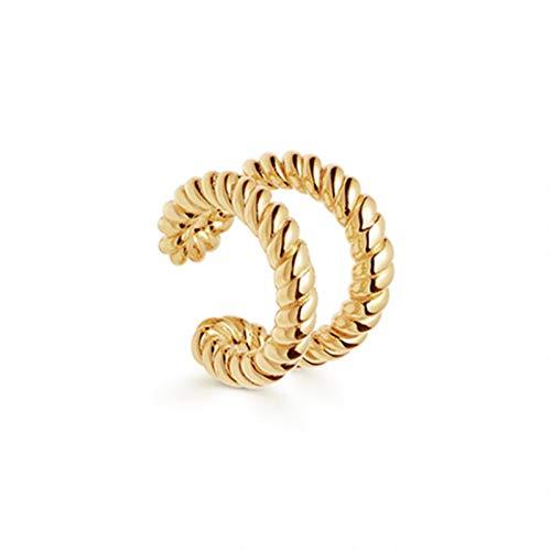 AQUALITYS Punk Gold Metal Ear Cuff Cartilage Ear Clip for Women No Pierced Shape Geometric Small Earcuff Ear Wrap Clips Jewelry-15