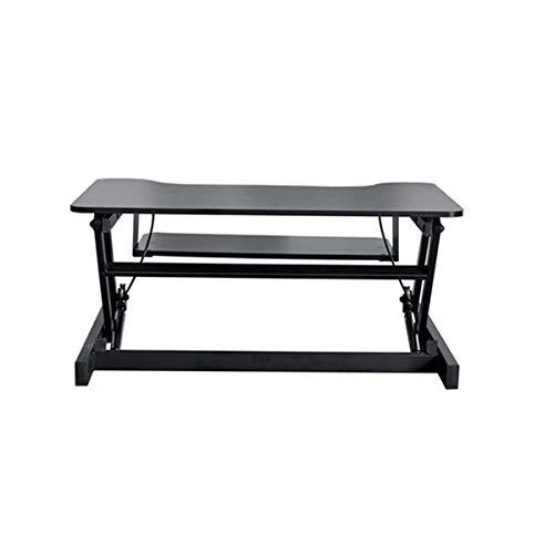 RUIXFLS Leicht Höhenverstellbarer Stehpult Sitzständer Schreibtischkonverter Faltbarer Computerarbeitsplatz Mit Tastatur und Mausablage Für Heim Geschenk, Black