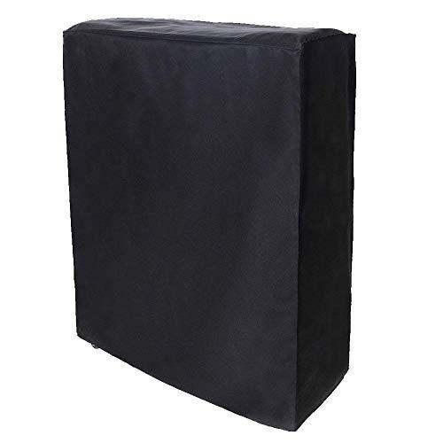 Funda para Muebles, Negra Cama Plegable portátil Funda para Muebles Funda Protectora a Prueba de Polvo Fundas para sofás Fundas para Muebles para Exteriores(Los 102 * 33 * 104cm)