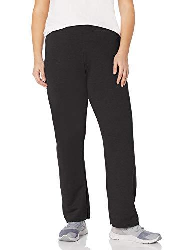 Just My Size Women's Plus-Size EcoSmart Sweatpants, Ebony, 2XL
