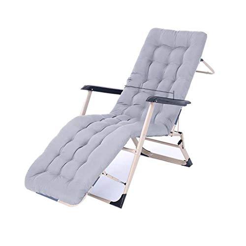 Folding chair QFF@ Chaise Inclinable Pause DéJeuner Chaise De Plage Balcon Chaise Siesta Lit Bureau Dos Chaise Paresseux Lit Pliant - Pipe en Acier -178cm * 50cm * 28cm.