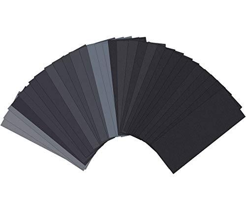 Sand Paper, Sandpaper, Sander Sheets 120 to 3000 Assorted...