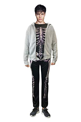 Donnie Darko Skeleton Set (Suit + Hoodie) Coat Adult Costume Jumpsuit (S)