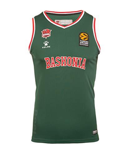 Baskonia 3ª Equipación De Juego 20/21 Camiseta, Unisex niños, Verde, 14 (Años)