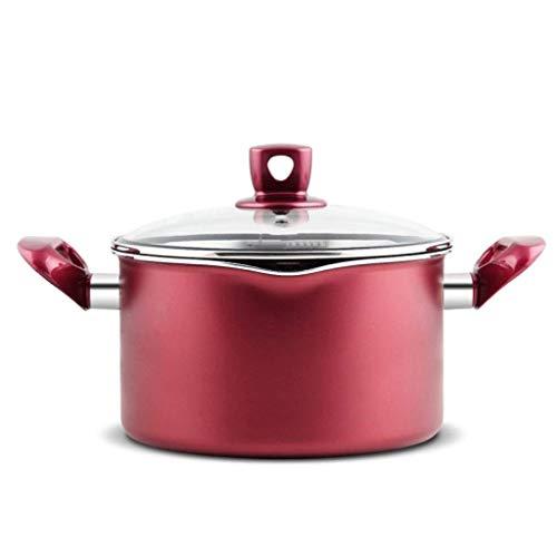 SHYOD Cazuela - Utensilios de Cocina de Hierro Fundido de Aluminio Olla con Tapa, for no Palo Redondo cazuela Plato, Ligero, fácil cambiarlo de Sitio