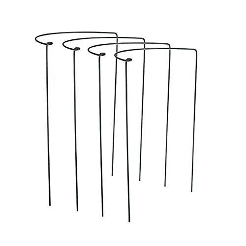 Takefuns Lot de 4 anneaux de support pour plantes de jardin en demi-cercle - Support de bordure - Support pour plantes - Pour rosiers, hortensia et vigne
