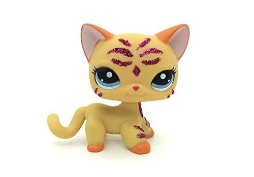 WooMax Littlest Pet Shop LPS Jouet Cadeau d'anniversaire Cadeau de no?l Cadeau d'anniversaire Cadeau d'anniversaire Paillettes Rose Scintillant Orange Chat Chat