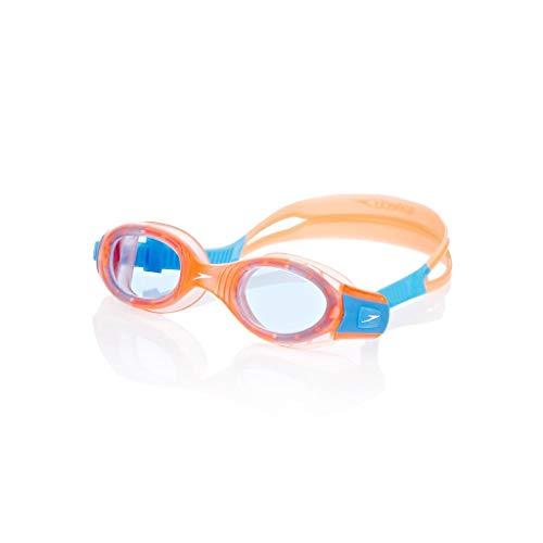Speedo Junior Futura Biofuse zwembril - blauwe lenzen - oranje