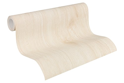 A.S. Création Vliestapete Best of Wood`n Stone 2nd Edition Tapete in Vintage Holz Optik fotorealistische Holztapete maritim 10,05 m x 0,53 m creme Made in Germany 319914 31991-4