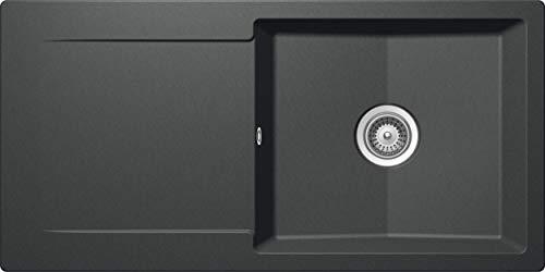 SCHOCK Küchenspüle 100 x 50 cm Epure D-100L Roca - CRISTALITE Granitspüle ab 60 cm Unterschrank-Breite