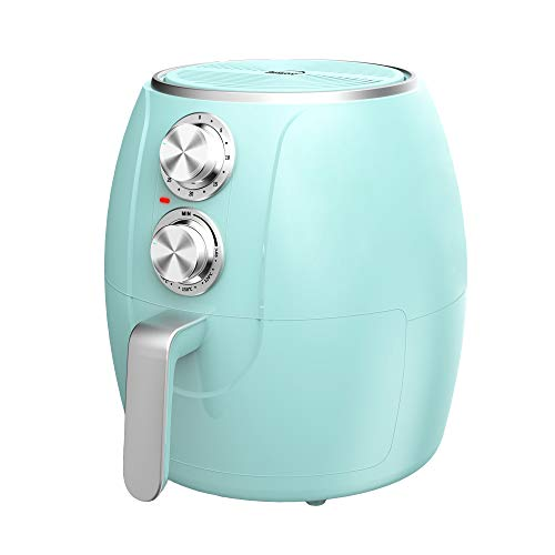 Brentwood Appliances AF-300BL 3.2-Quart 1,200-Watt Electric Air Fryer with Timer and Temperature Control (Blue)