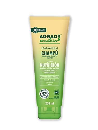 Champú para el pelo 200 ml Nutrición Cosmética Natural Ingredientes Naturales Vegano Botánicos AGRADO Nature
