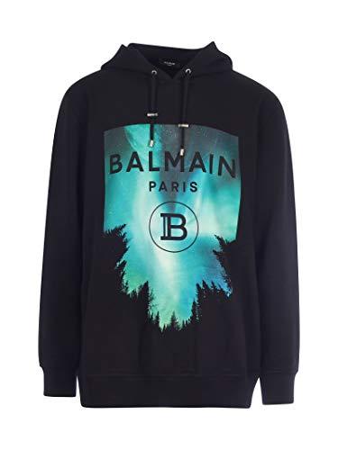 Balmain Luxury Fashion Herren UH13415I303AAA Schwarz Baumwolle Sweatshirt | Herbst Winter 20