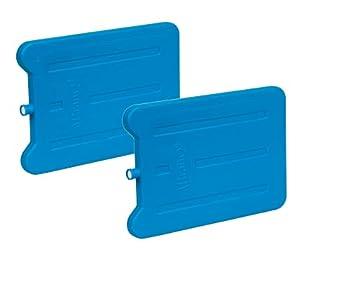 Lot de 2 tapis réfrigérants de 185 ml pour réfrigérateur touristique pour lunch, glacière et glacière - Sans BPA - Bleu - 166 x 11 x 10 mm