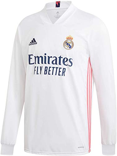adidas Real Madrid CF Home Mens Long Sleeve Soccer Jersey- 2