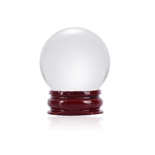 Bola de Cristal Transparente con Soporte para Bola Decorativa, Bola de Cristal para fotografía, adivinación o Feng Shui y Bola de adivinación