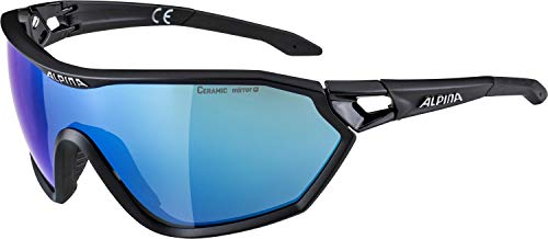 ALPINA S-WAY L CM+ Sportbrille, Unisex – Erwachsene, black matt, one size