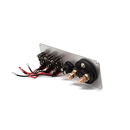 ZHENGJI El Panel de Control del Interruptor de Encendido de la Encendido del Coche de Las Carreras de 12V 3 Botón de Arranque del Motor de Encendido/Apagado de la pandilla con indicar luz