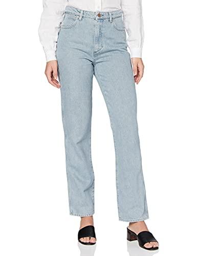 Wrangler Retro Straight Jeans, Blu (Ice Blue 72b), 32W / 32L Donna
