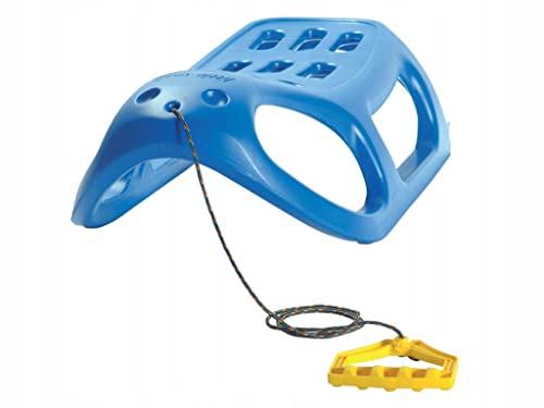 TERRA Trineo Alto Little Seal, con Deslizadores de Acero y Cuerda, Juventud Unisex, Rosso, 86x25x46 cm