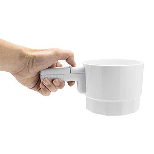 QAZWSX Hecha a Mano Tamizar la harina, en Forma de Copa mecánica eléctrica de Las cribas harina Tamizar la harina for Hornear Herramientas Inicio de Cocina (Color : 01)
