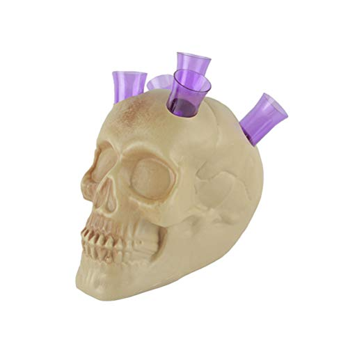 Amosfun 6 piezas Halloween cráneo vino rack adornos festival cráneo rack bar tubo KTV Ghost Head Bar Accesorios