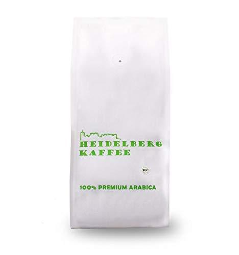 BIO HEIDELBERG KAFFEE Kaffeebohnen 250g - Premium Arabica - ganze Bohnen -Traditionelle Trommelröstung - Single Origen - 100% Arabica (250g) (500 Gr)