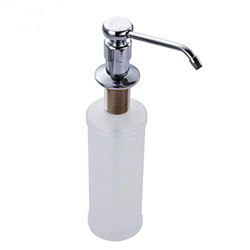 Dispensador de Jabón Botella sumidero de líquido especial dispensador de cocina completa de cobre de la culata de detergente Loción fregadero de acero inoxidable 350ML de Accesorios Bomba de Jabón