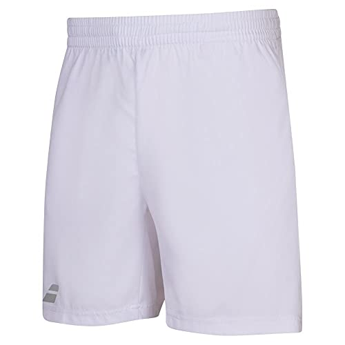 Babolat Play Short Men Pantalón Corto, Hombre, White/White, m