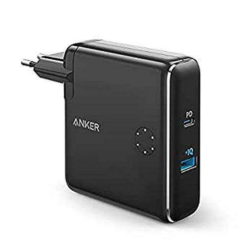 ANKER 2-in-1 Wandladegerät, tragbares Ladegerät und Wandladegerät, AC Plug mit 5000 mAh Kapazität, PowerIQ Technologie für iPhone, iPad, Android, Samsung Galaxy (schwarz)