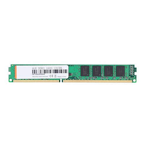 Dpofirs DDR3 PC3-12800 1.5V 1600mhz 204PIN Memory Module Green, Fully Compatible Small Memory Card for Laptop Desktop Computer(4GB)