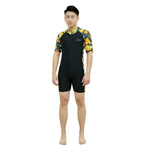 SUIWO Schnorchel Männer und Frauen-Badeanzug Ganzkörper-Badebekleidung Taucheranzüge Modelle Sunscreen siamesische Badebekleidung Shortsleeved Hose Bademode Surf Anzug Tauchanzug