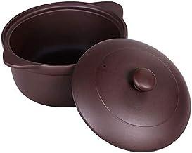 Praktisch Casserole gerechten braadpan schotel met deksel braadpan handgemaakte keramische paarse klei plattegrond cookwar...