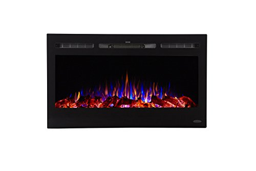 Touchstone 80014 - Sideline Electric Fireplace - 36 Inch Wide - in Wall Recessed...