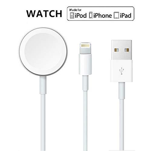 Cable magnético actualizado del cargador de reloj de la versión 2019 para iWatch 5/4/3/2/1, cable de carga inalámbrico 2 en 1 competitivo con Apple Watch Series 5/4/3/2/1 y iPhone 11 Max Pro/XR /XS