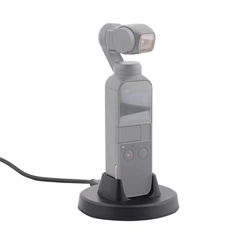 AFVO Charging Base Tabletop Charger Holder for DJI Osmo Pocket, Charging Cable Included