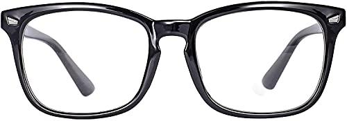 Blaulichtfilter Brille, Blaulicht blockierende Schutzbrille hoher Schutz für Bildschirme, Computer Gaming-Brille, Anti-Blaulicht Brille Unisex ohne Dioptrin für PC, TV, Handy usw. (Schwarz)