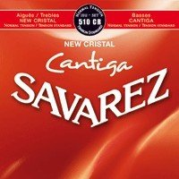 CUERDAS GUITARRA CLASICA - Savarez (510/CR) New Cristal Cantiga Roja Tension Normal (Juego Completo)