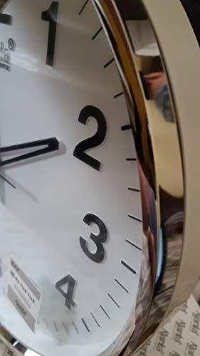 Ajanta Quartz Wall Clock (32 cm x 32 cm x 3.5 cm, White) 2
