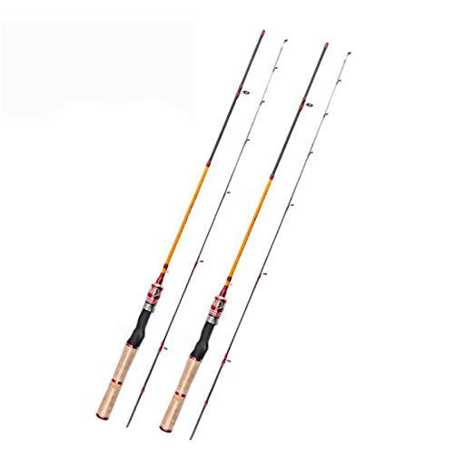 DDoyci Ul de Carbono Barra de Giro 1.68m 1.8m 1.98m Ultraligero telescópica Viaje Caña de Pescar Accesorios de Pesca (Color : Spinning, Length : 1.98 m)